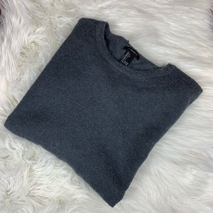 Forever 21 Grey Varsity Pullover Sweater Large